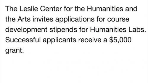 Humanities Labs Course Development Grants
