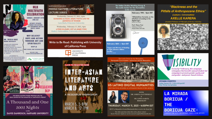 Winter 2021 Events Sponsored and Co-Sponsored by the Leslie Center