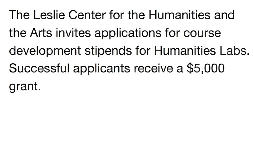 Humanities Labs Course Development Grants