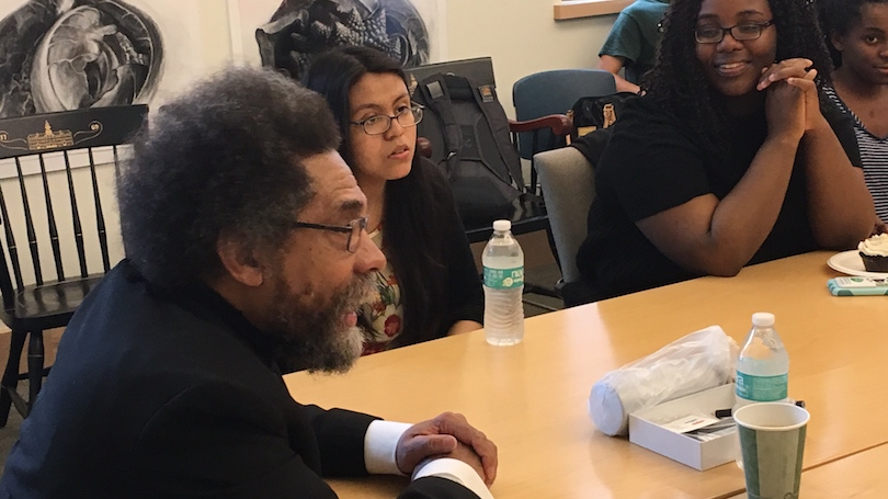 Students with Cornel West