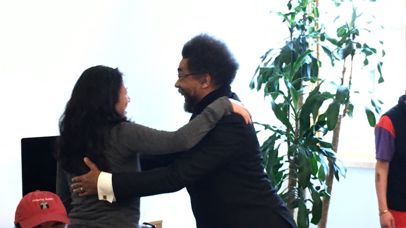 student meet and greet with Cornel West